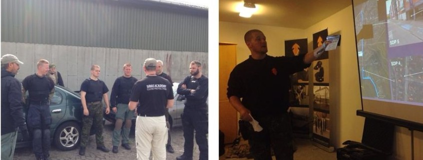 Close Protection course Congratulations to the students who passed the close protection level 1+2 course - well done guys and welcome to the SIRAS family. Several of the students are already coming back to the academy to join the next Surveillance course in September. We are happy to say that one of the students already is applying for employment in the States.