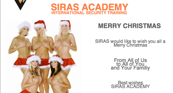 Content: - Merry Christmas - Available position in Africa - All students in the field - Extra surveillance course